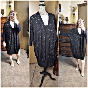 Gold and Black long Cardigan